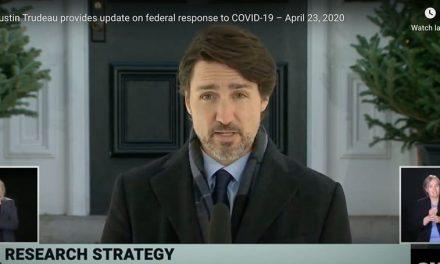 Primer Ministro de Canadá Justin Trudeau anuncia más inversiones para atacar la pandemia