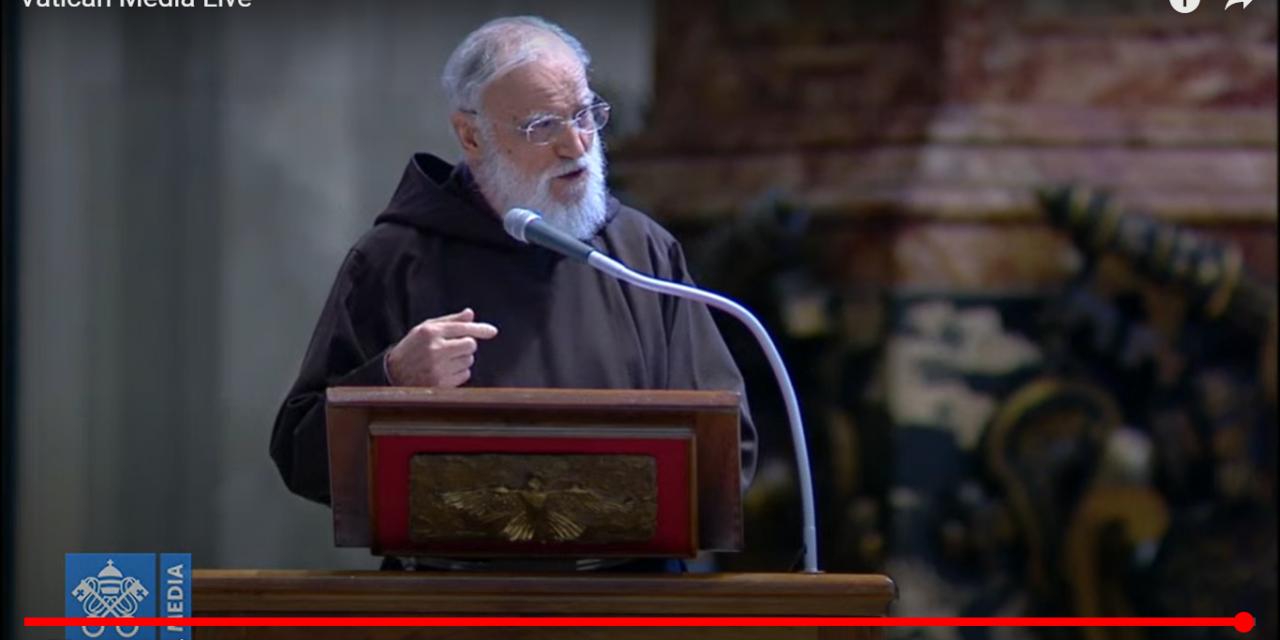 Lea aquí todas las frases del Padre Rainiero Cantalamessa en la homilía del Viernes Santo