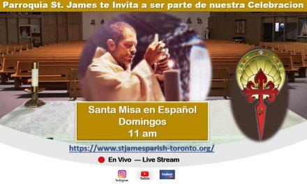 Hispanos Católicos y la parroquia Santiago Apóstol se unen para transmitir en directo la misa cada domingo