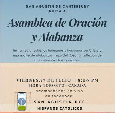 Comunidad San Agustín de Canterbury invita a vivir una asamblea de oración y alabanza a través de Hispanos Católicos