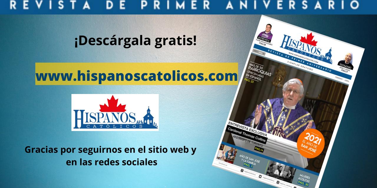 Hispanos católicos lanza su primera revista digital gratuita en su sitio web por el 1er. aniversario