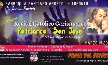 Invitan al primer recital católico carismático virtual de Toronto «Patriarca San José»