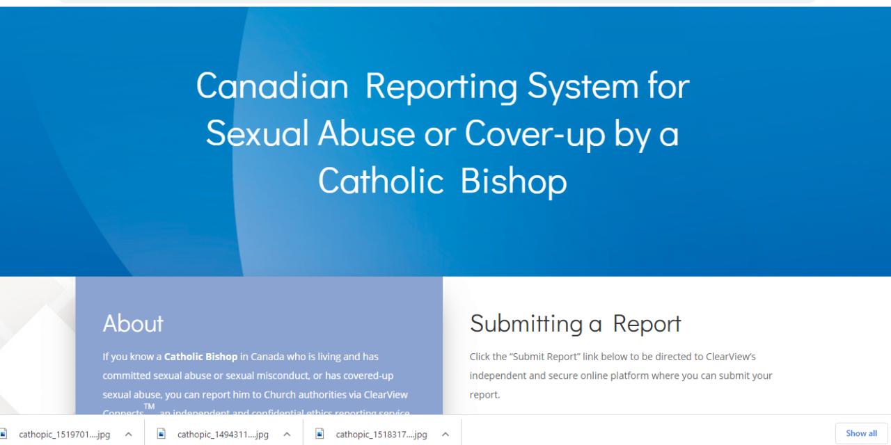 Lanzan sitio web para denunciar conducta sexual inapropiada de obispos y sacerdotes en Canadá
