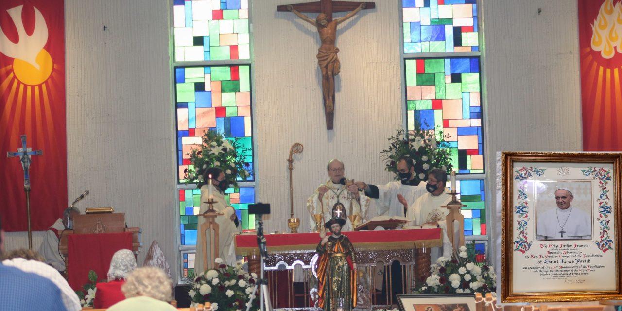Parroquia Santiago Apóstol celebró sus 100 años de vida con una bendición del Papa Francisco