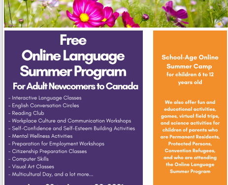 LEF, organización sin fines de lucro, invita a su programa gratuito de verano en línea para recién llegados a Canadá